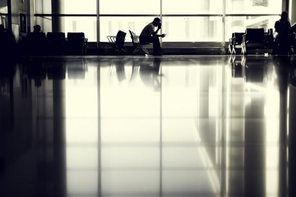 Opóźniony lot samolotem