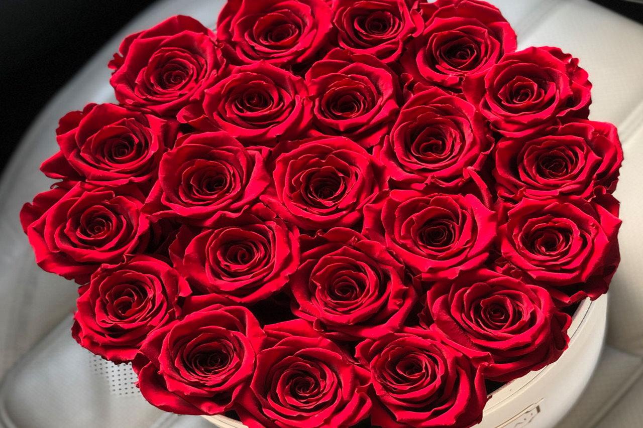 Czerwony flowerbox